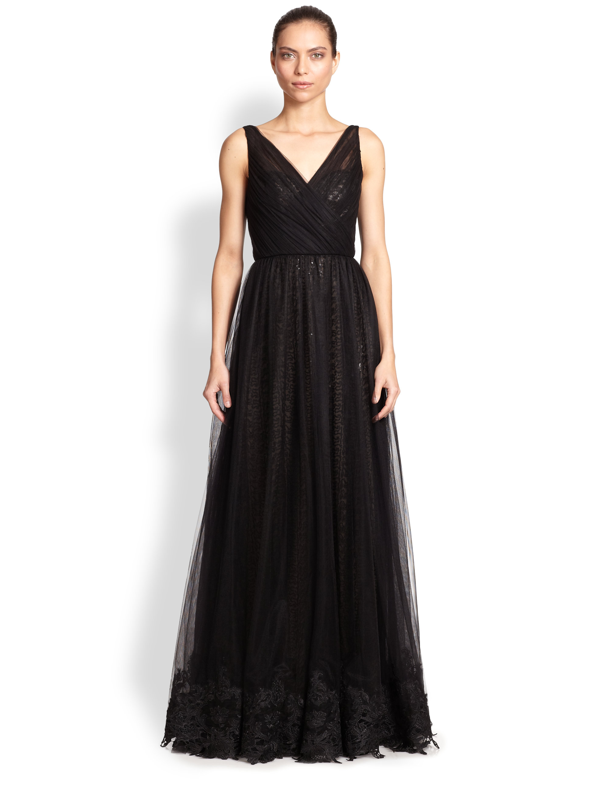 Black Evening Gowns Monique Lhuillier – fashion dresses