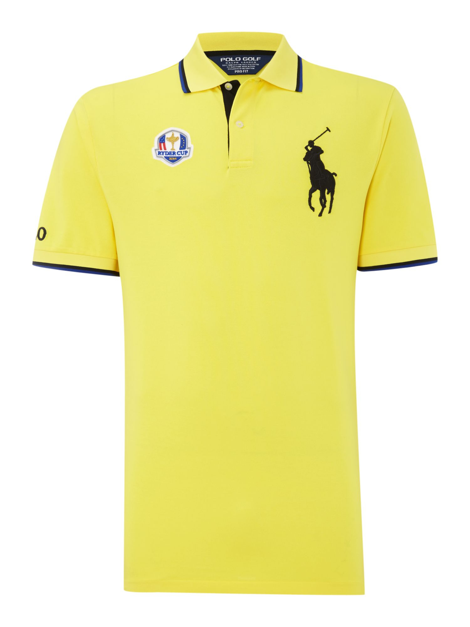 Ralph lauren golf polo golf ryder cup polo shirt in yellow for Yellow golf polo shirts