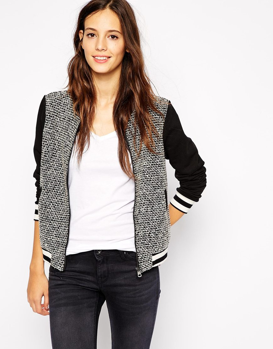 2ad1cd326228b Lyst - Esprit Bomber Jacket in Black