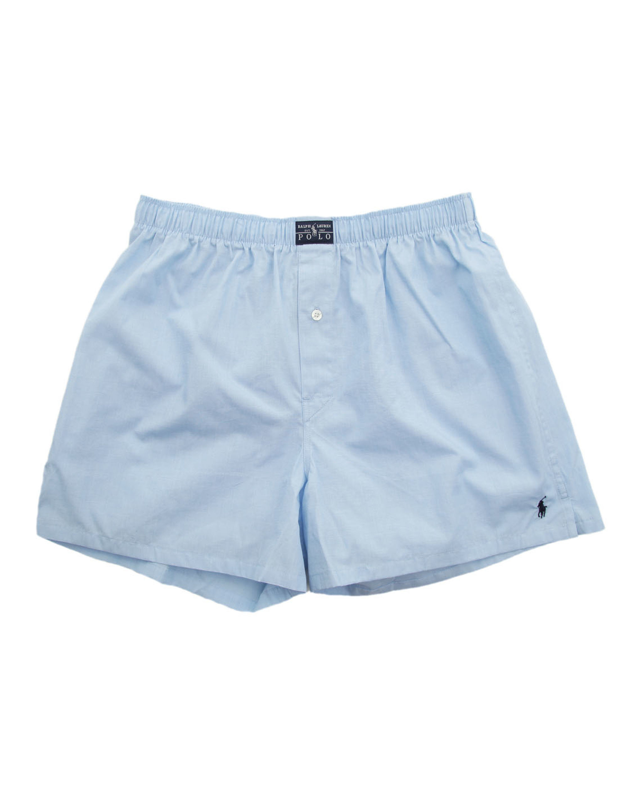 polo ralph lauren sky blue poplin boxer shorts in blue for. Black Bedroom Furniture Sets. Home Design Ideas