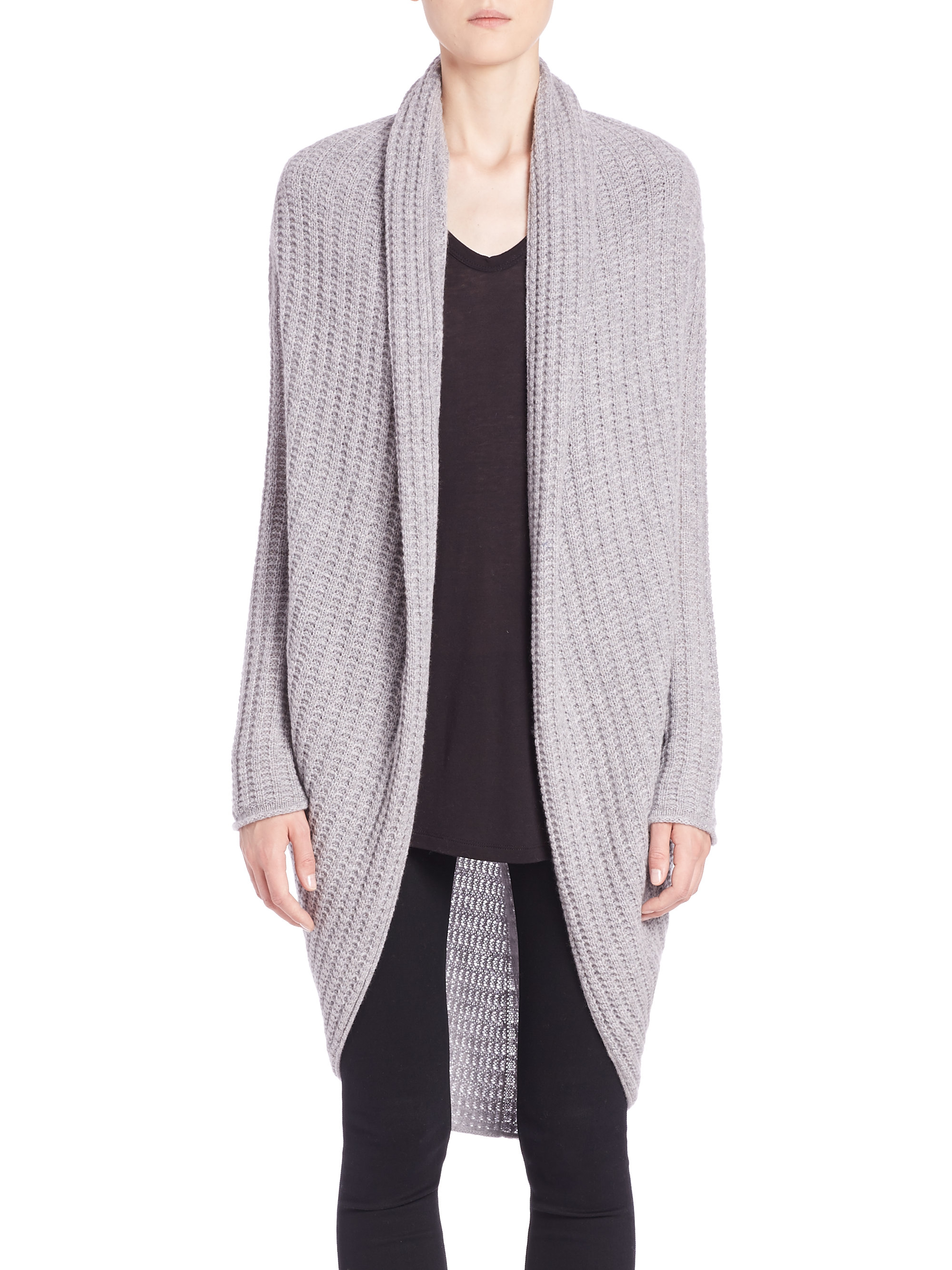 United Luggage Size Lyst 360cashmere Josephine Cashmere Cocoon Sweater In Gray