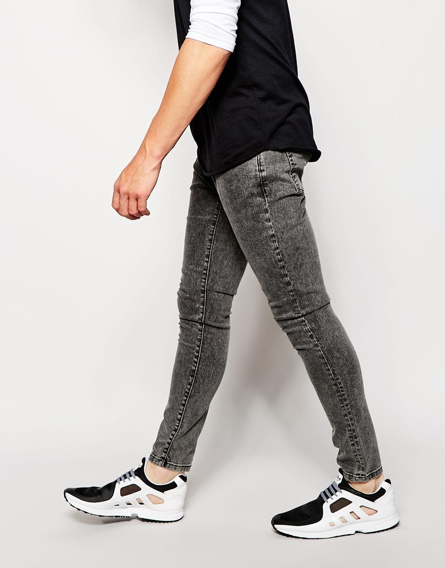 Brooklyn Supply Co Muscle Fit Jeans Washed Grey - Dark washed grey Brooklyn Supply Co. Top Quality Cheap Sale Footlocker Pictures 7SPDk0d