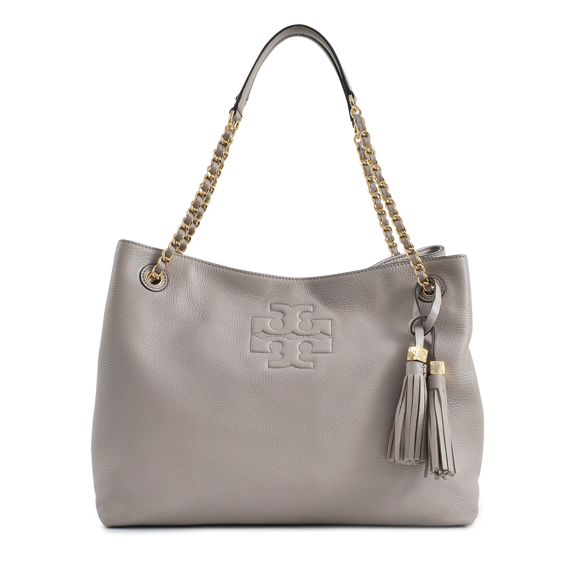 d5dc2c7492331 Lyst - Tory Burch Thea Chain Shoulder Slouchy Tote in Gray
