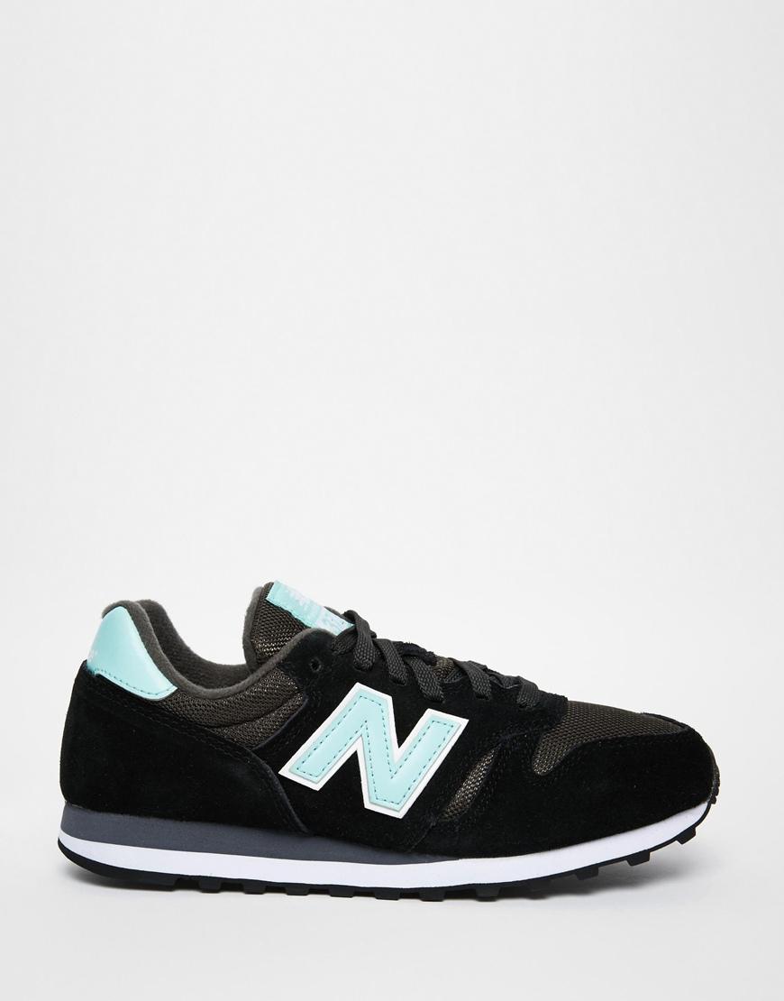 new balance black & white 373 trainers