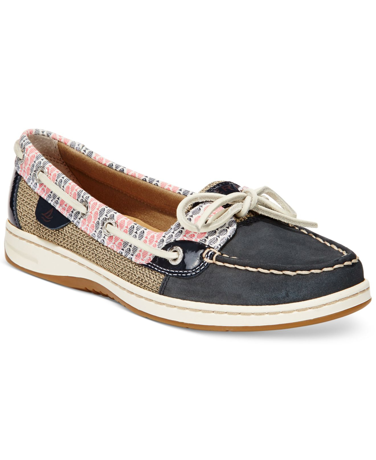 da51f473587 Lyst - Sperry Top-Sider Women s Angelfish Stripe Print Boat Shoes in ...