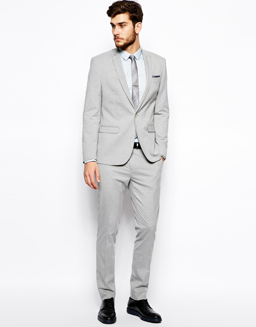 Skinny Grey Suit Dress Yy