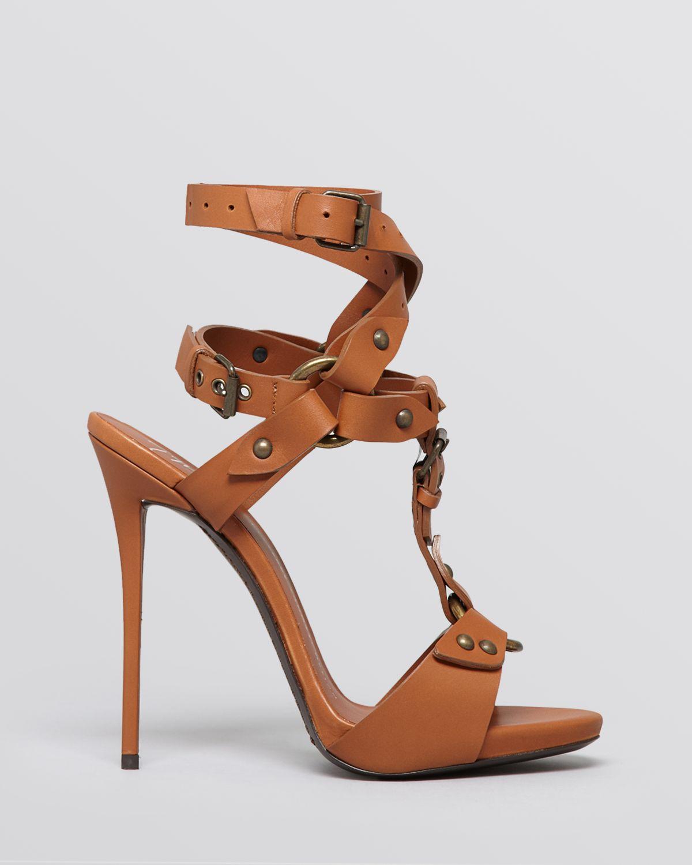 0fad5a81733 Lyst - Giuseppe Zanotti T Strap Sandals Coline High Heel in Brown