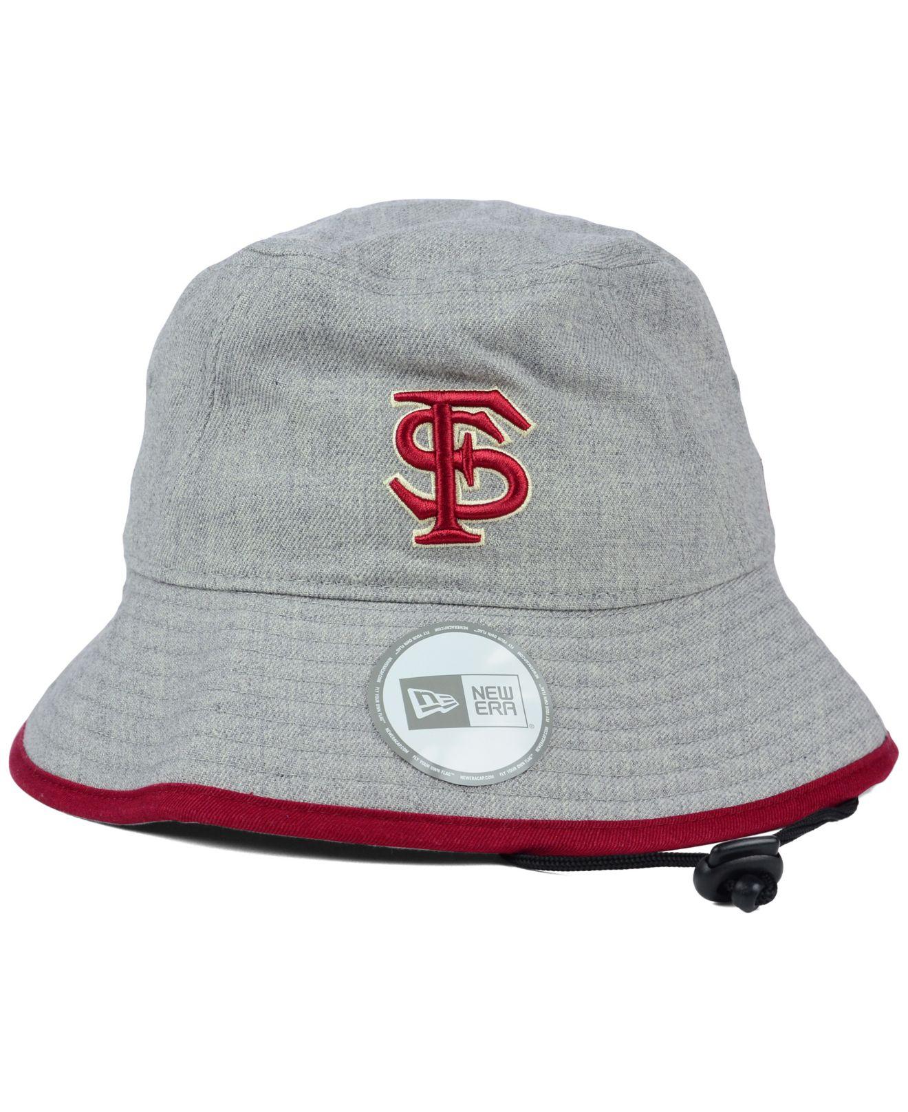 d5b9cd8064a3e KTZ Florida State Seminoles Tip Bucket Hat in Gray - Lyst