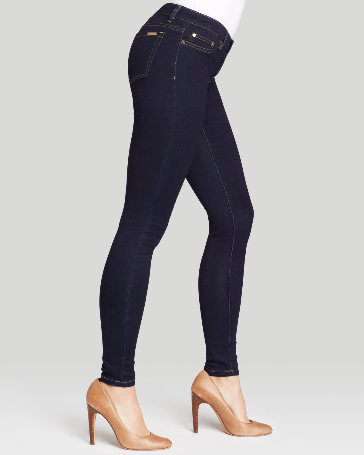 michael michael kors skinny jeans in twilight in blue lyst. Black Bedroom Furniture Sets. Home Design Ideas