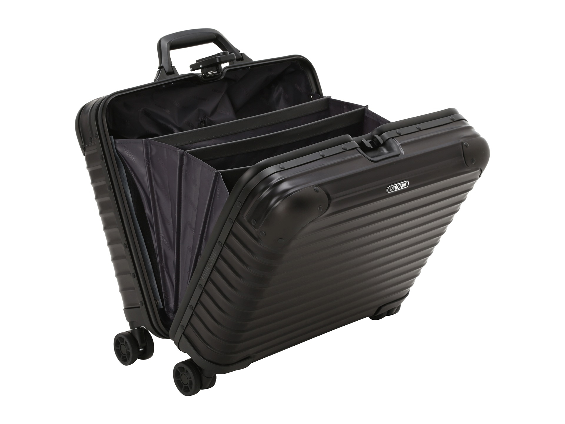 lyst rimowa topas stealth business multiwheel in black. Black Bedroom Furniture Sets. Home Design Ideas