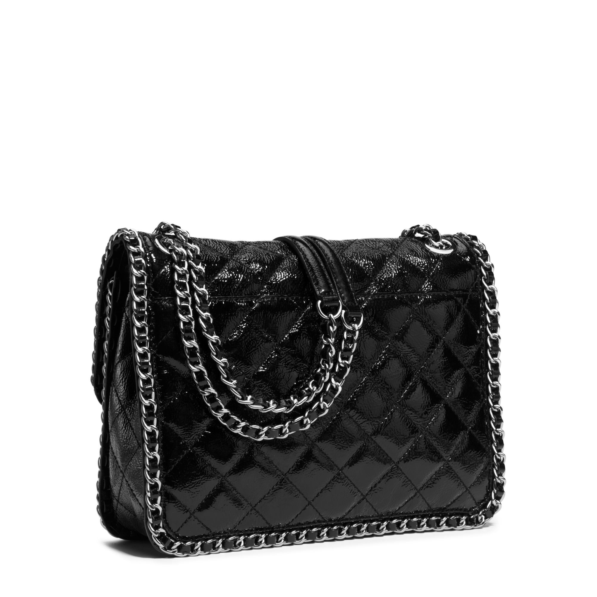 Michael Kors Carine Large Quilted Patent Leather Shoulder