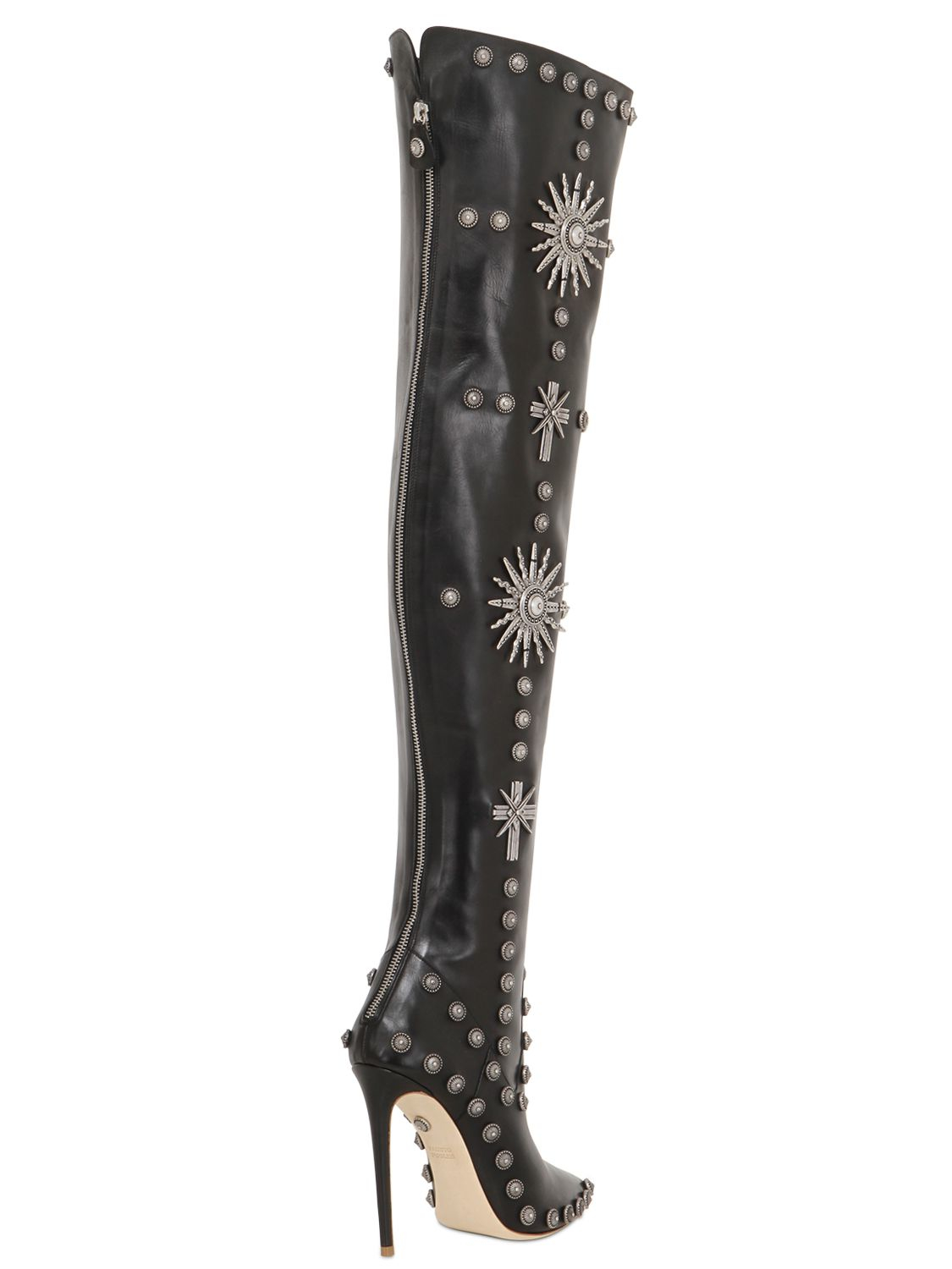 Fausto puglisi Studded Over The Knee Boots in Black | Lyst