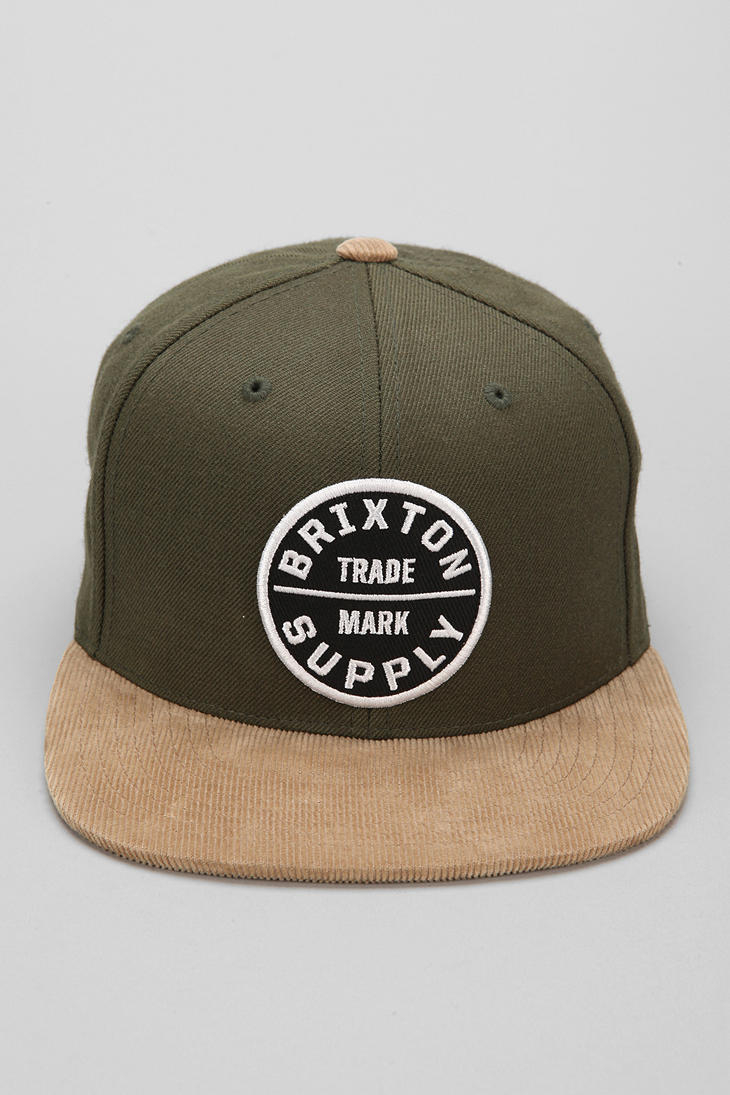 c45f647accd66 Urban Outfitters Brixton Oath Iii Snapback Hat in Green for Men - Lyst