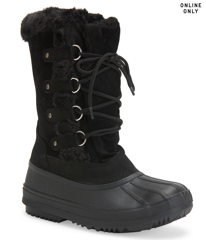 blue suede shoes polar boot in black lyst