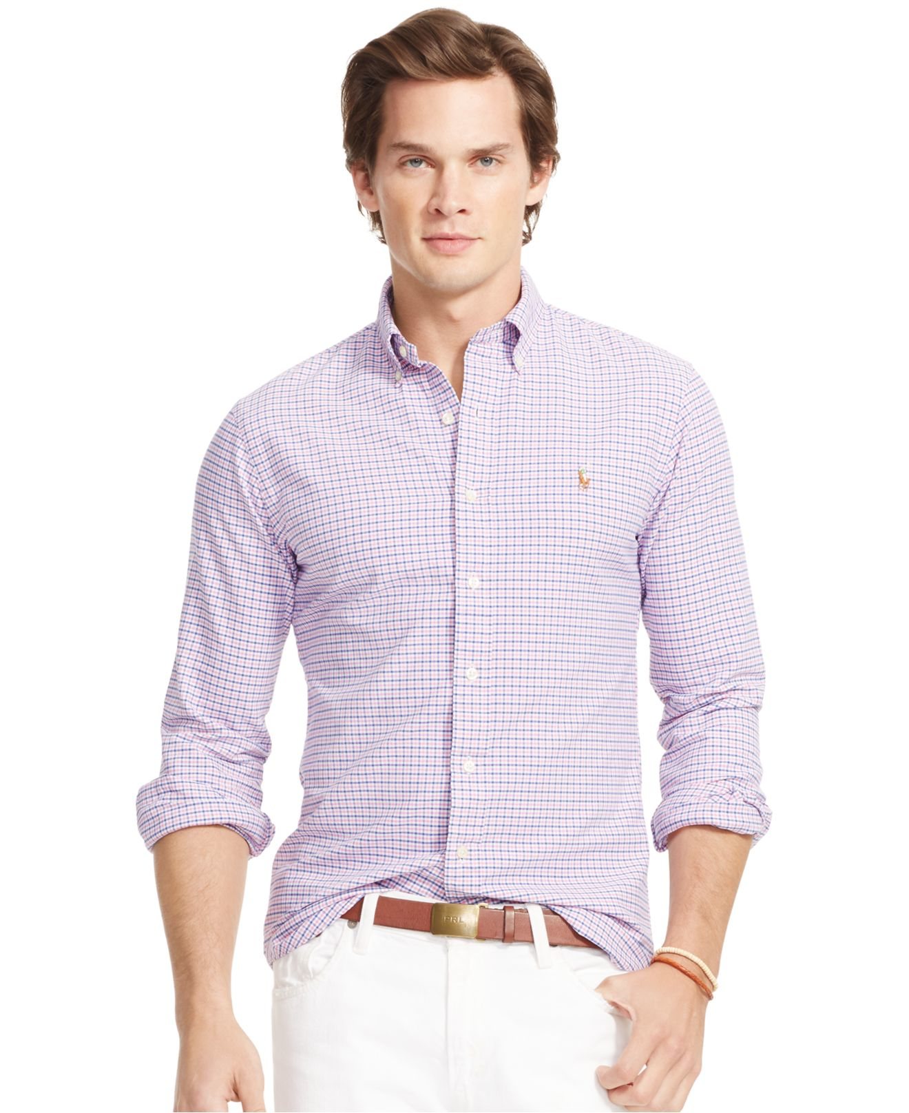 949ae7a2d68b7 Lyst - Polo Ralph Lauren Men s Men s Long Sleeve Multi-gingham ...