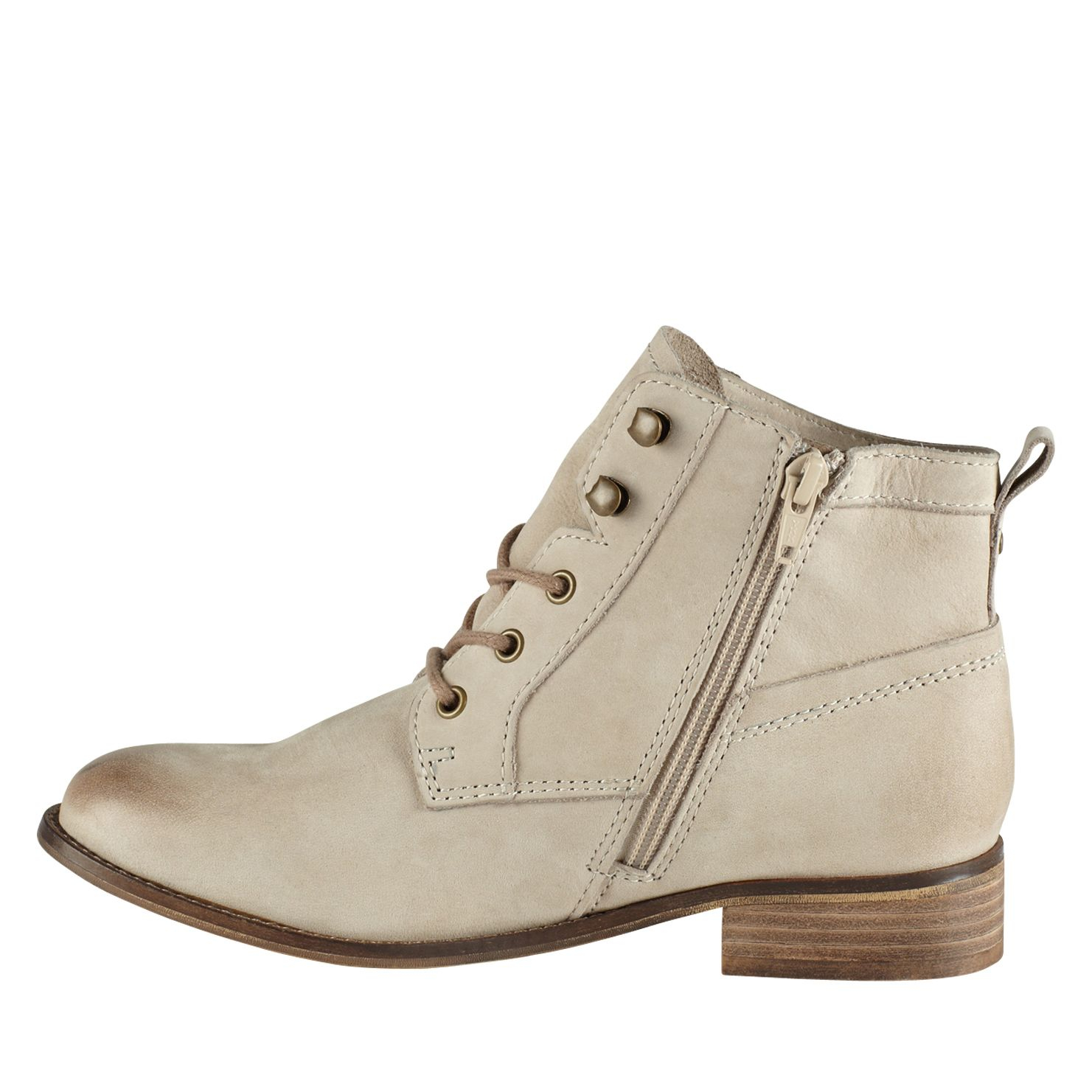 aldo wirasien almond toe lace up boots in gray lyst