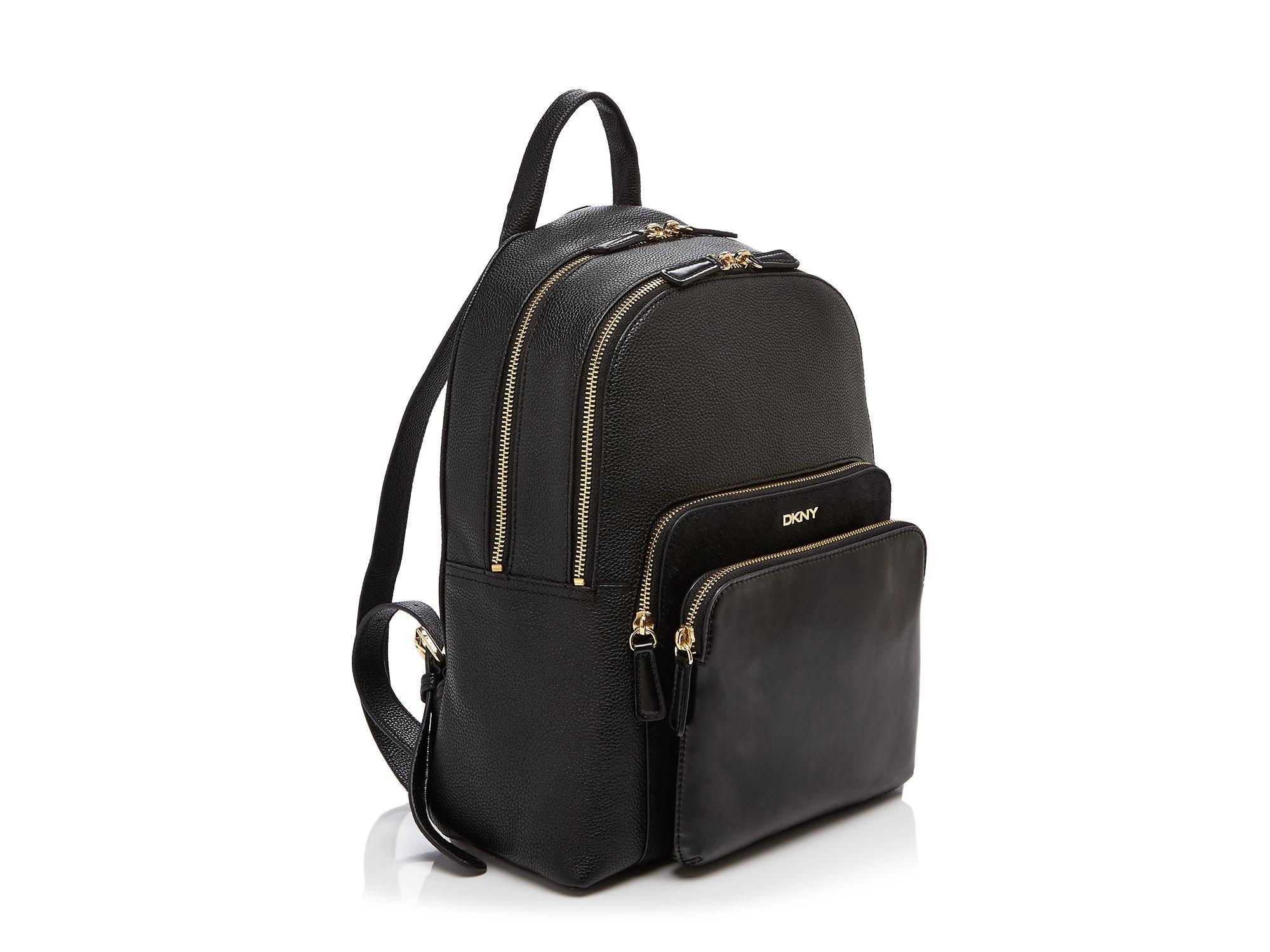 Dkny Chelsea Vintage Calf Hair Backpack in Black