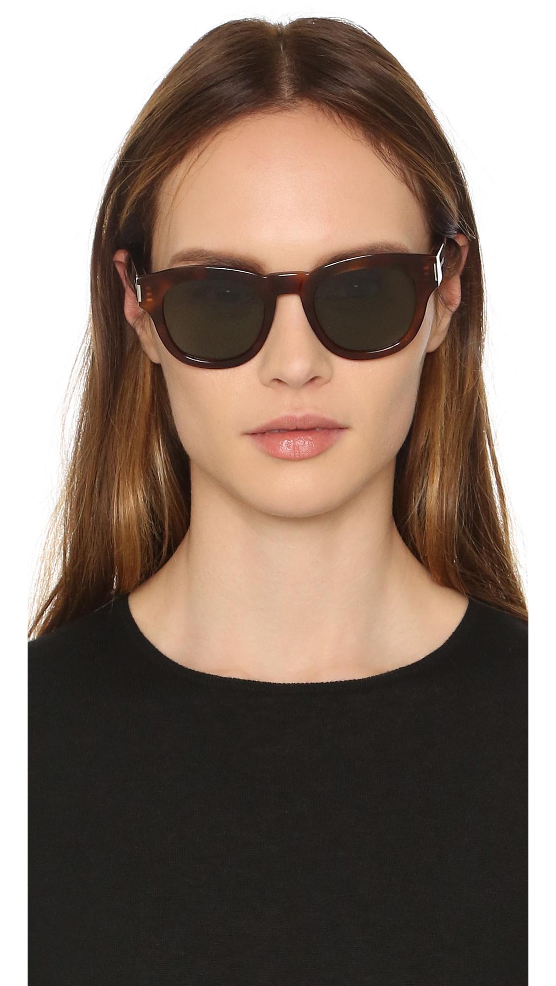a64960c3f2 Lyst - Saint Laurent Bold 2 Mineral Glass Sunglasses in Green