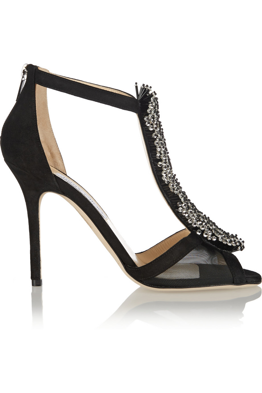 Black mesh sandals - Gallery