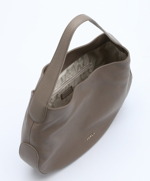 Furla Taupe Leather Large 'alida' Hobo Bag in Brown | Lyst