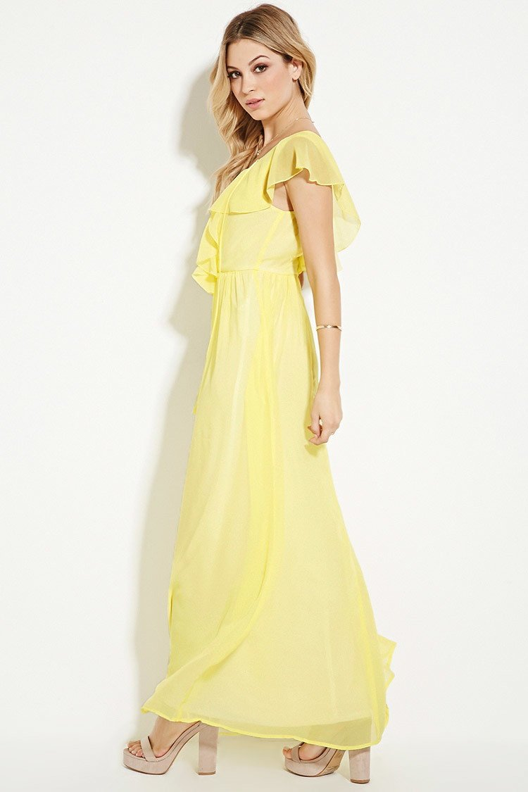Chiffon maxi dress forever 21