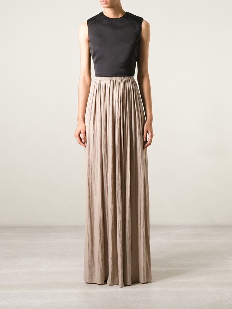 Lyst Lanvin Pleated Maxi Skirt