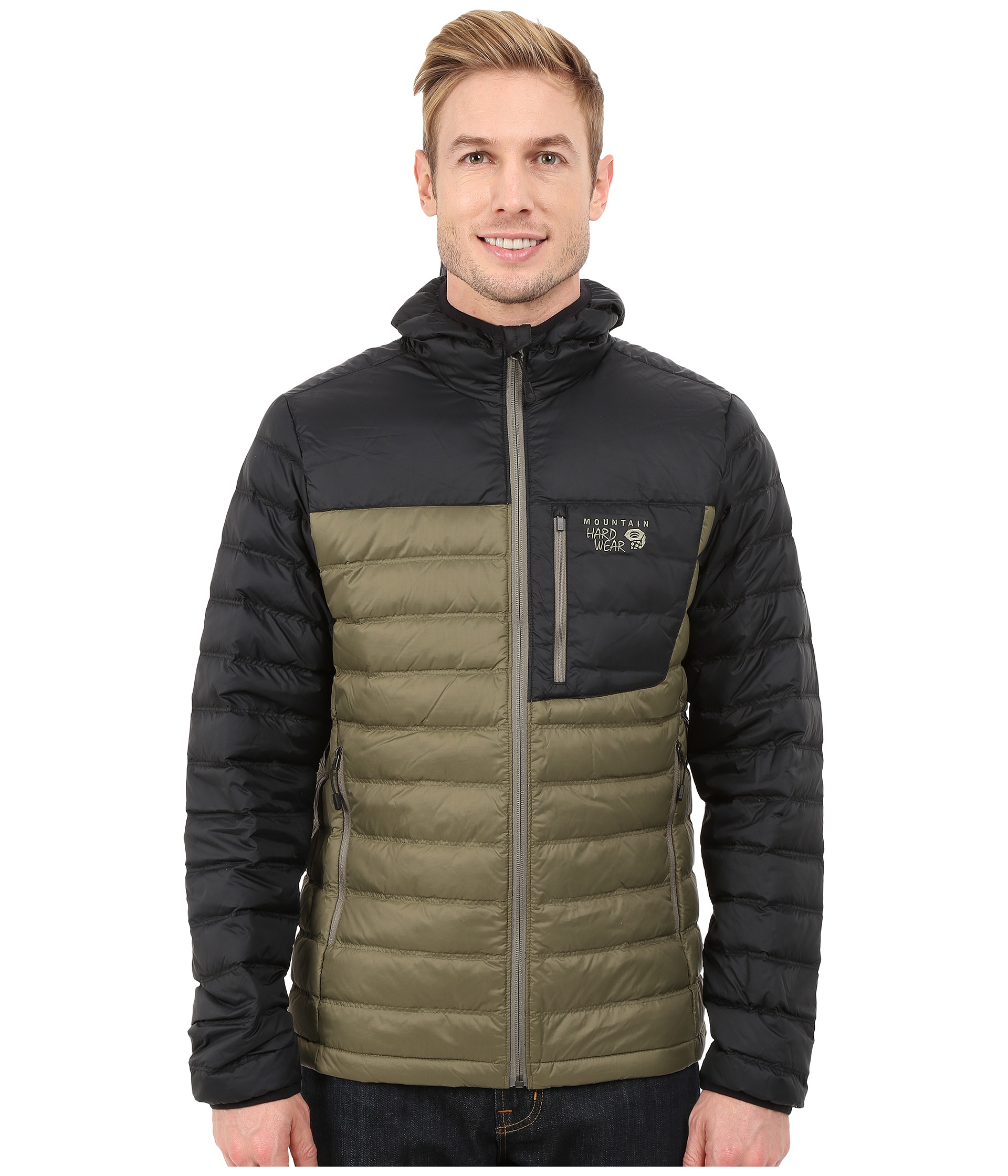 Mountain hardwear Dynotherm™ Hooded Down Jacket in Green for Men