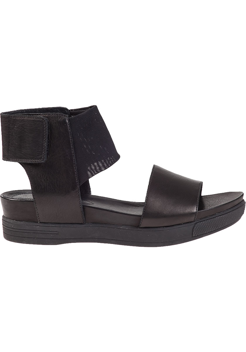 2f13ba2512f Lyst - Eileen Fisher Spree Platform Sandal Black Leather in Black