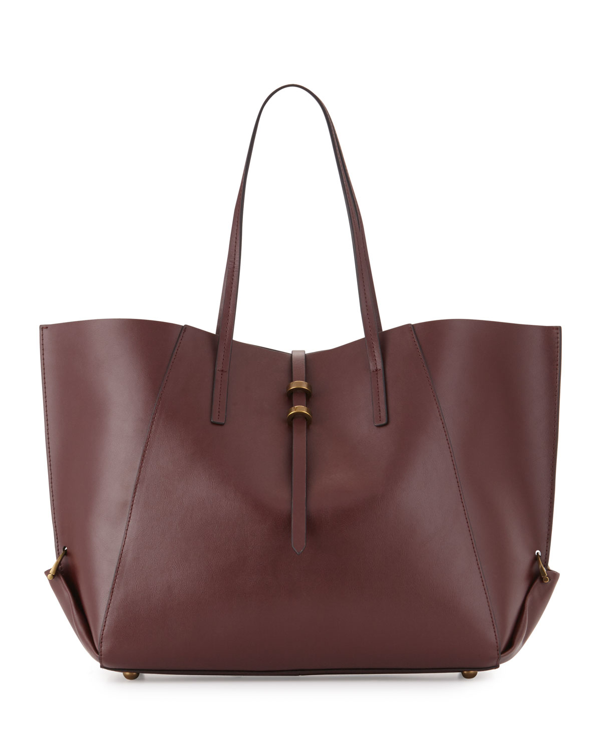 Zac zac posen Eartha Leather Shopper Tote Bag in Brown | Lyst