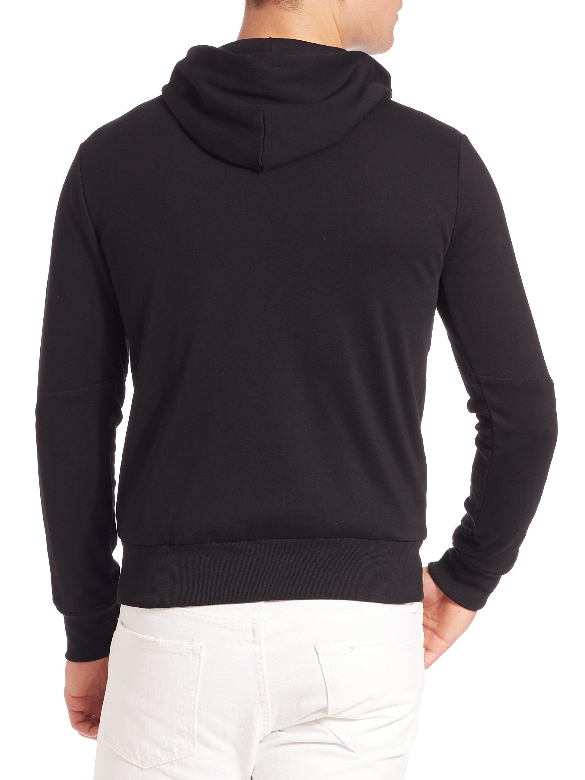 polo ralph lauren full zip fleece hoodie in black for men. Black Bedroom Furniture Sets. Home Design Ideas