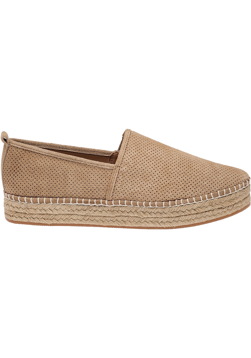 acfa9d3cf37 Steve Madden Peppa Taupe Suede Espadrille in Brown - Lyst