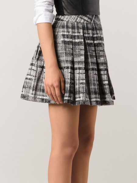 tweed pleated skirt in black lyst