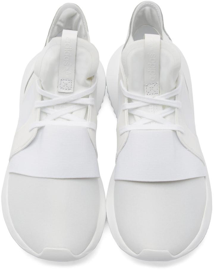 0d236859fe41 Lyst - adidas Originals White Tubular Defiant Sneakers in White for Men