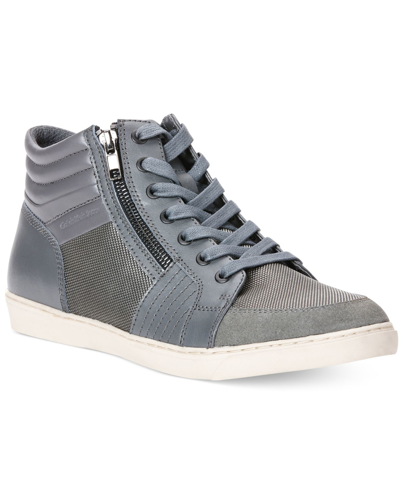 calvin klein jeans zeel sneakers in gray for men lyst. Black Bedroom Furniture Sets. Home Design Ideas
