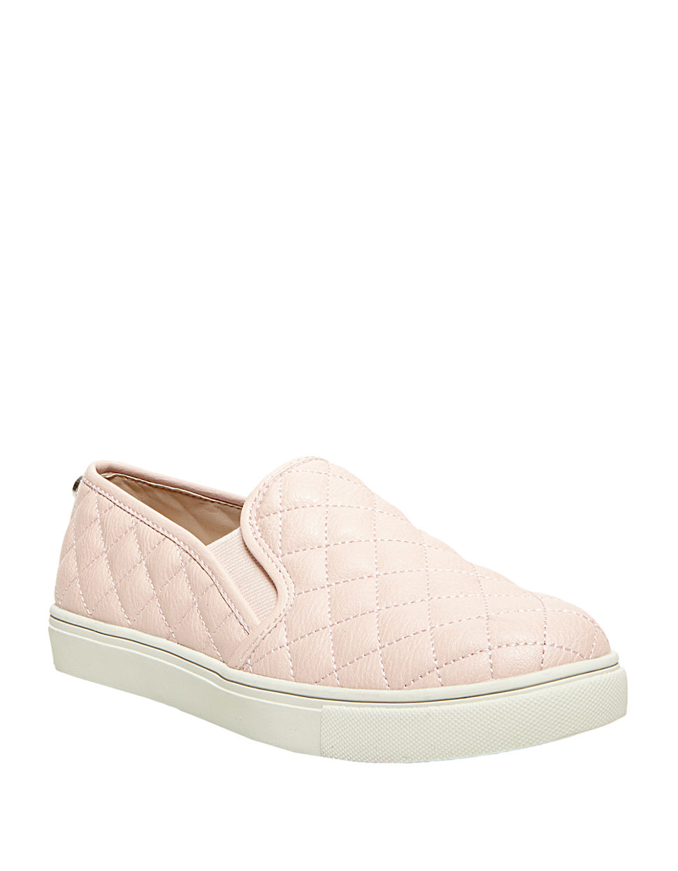 8228af5c126 Steve Madden Ecentrcq Quilted Faux Leather Slip-ons in Pink - Lyst