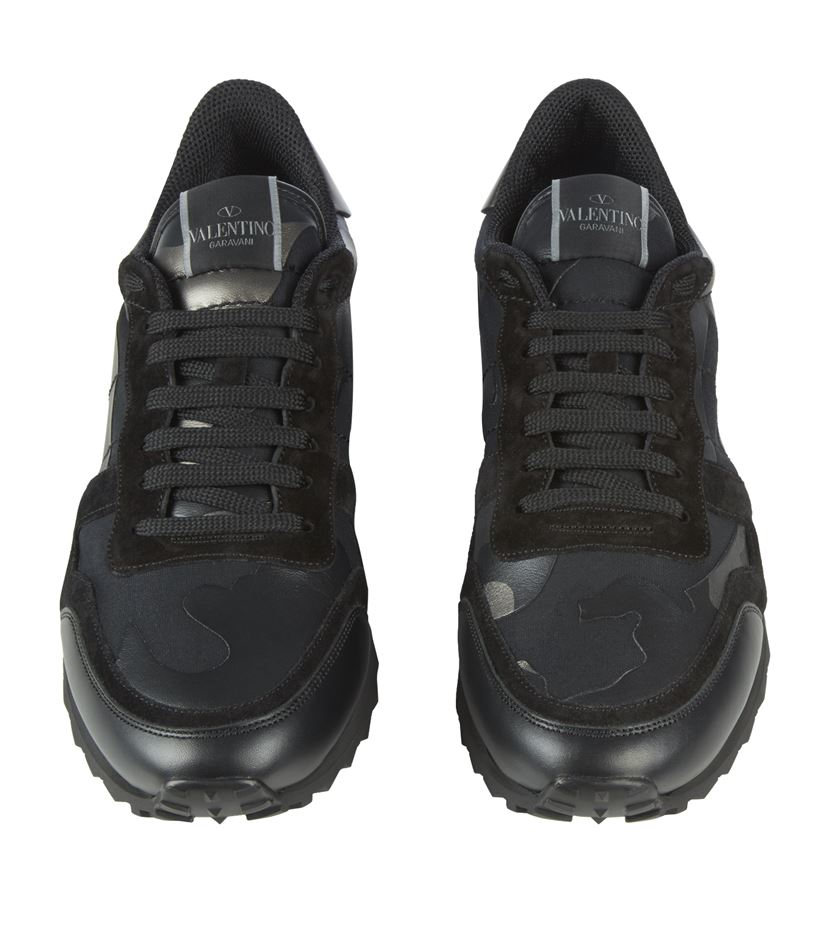 valentino camo sneaker in black for men lyst. Black Bedroom Furniture Sets. Home Design Ideas