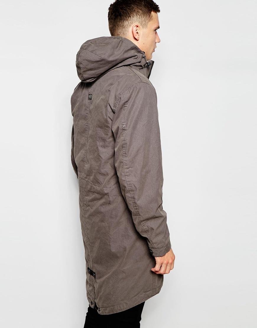 g star raw parka jacket submarine detatchable hood and. Black Bedroom Furniture Sets. Home Design Ideas