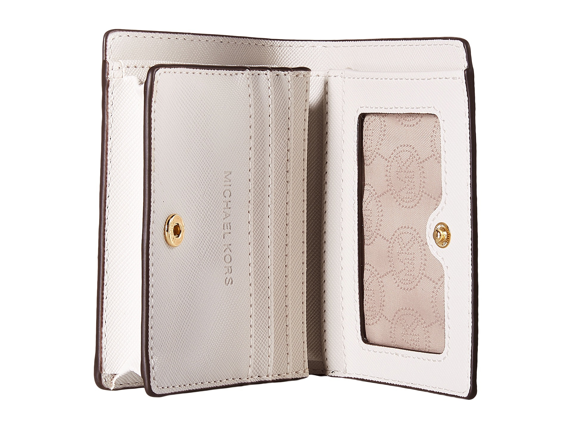 56520204f94e Lyst - MICHAEL Michael Kors Jet Set Travel Flap Card Holder in White