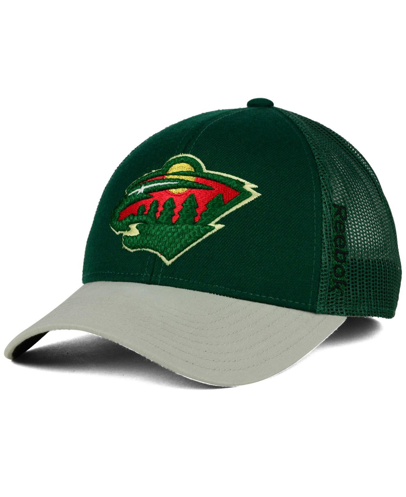 3d4ca3705a7 Lyst - Reebok Minnesota Wild Tnt Adjustable Cap in Green for Men