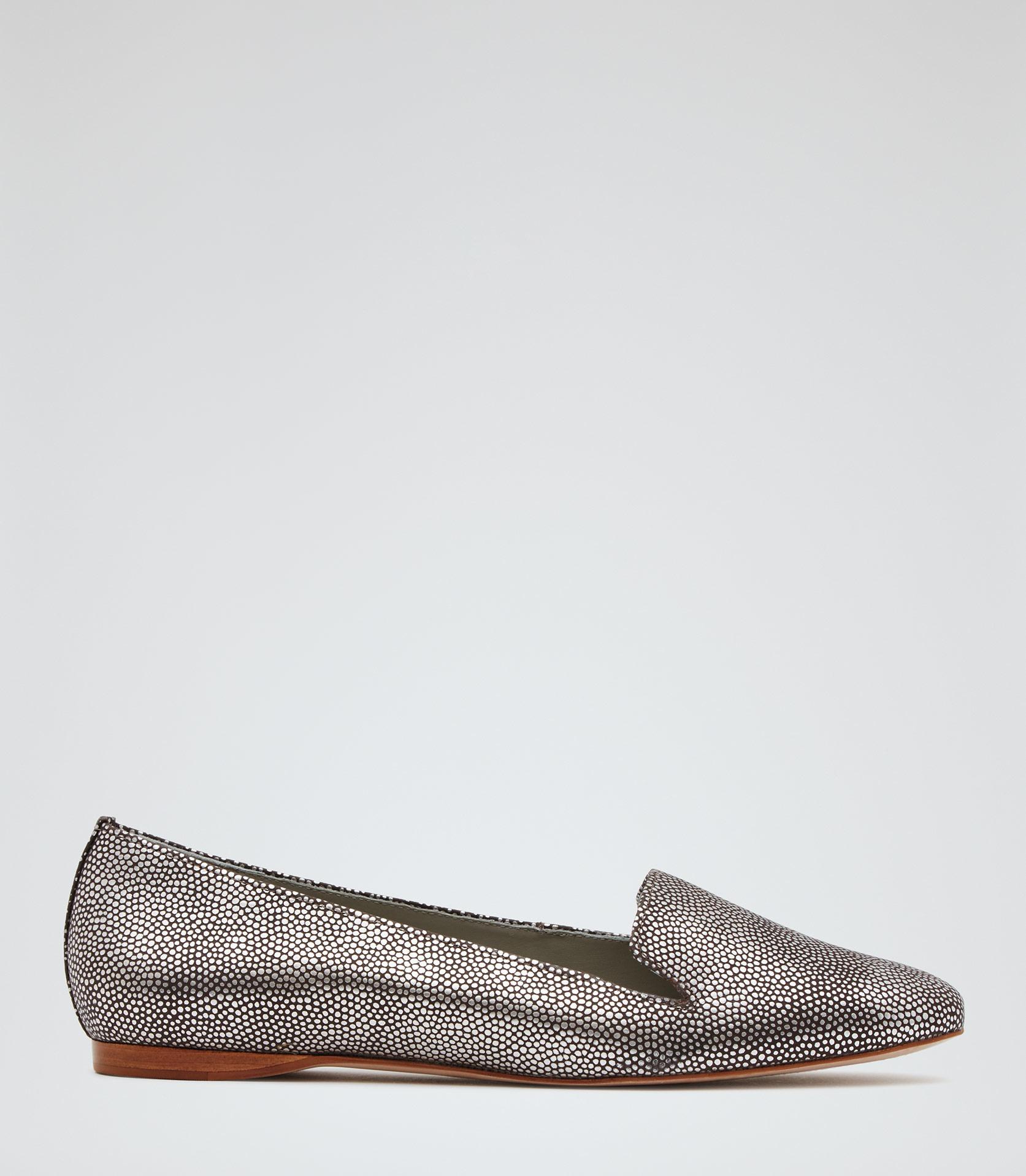 3a4700c8a9e Lyst - Reiss Lillie Metallic Flat Shoes in Metallic