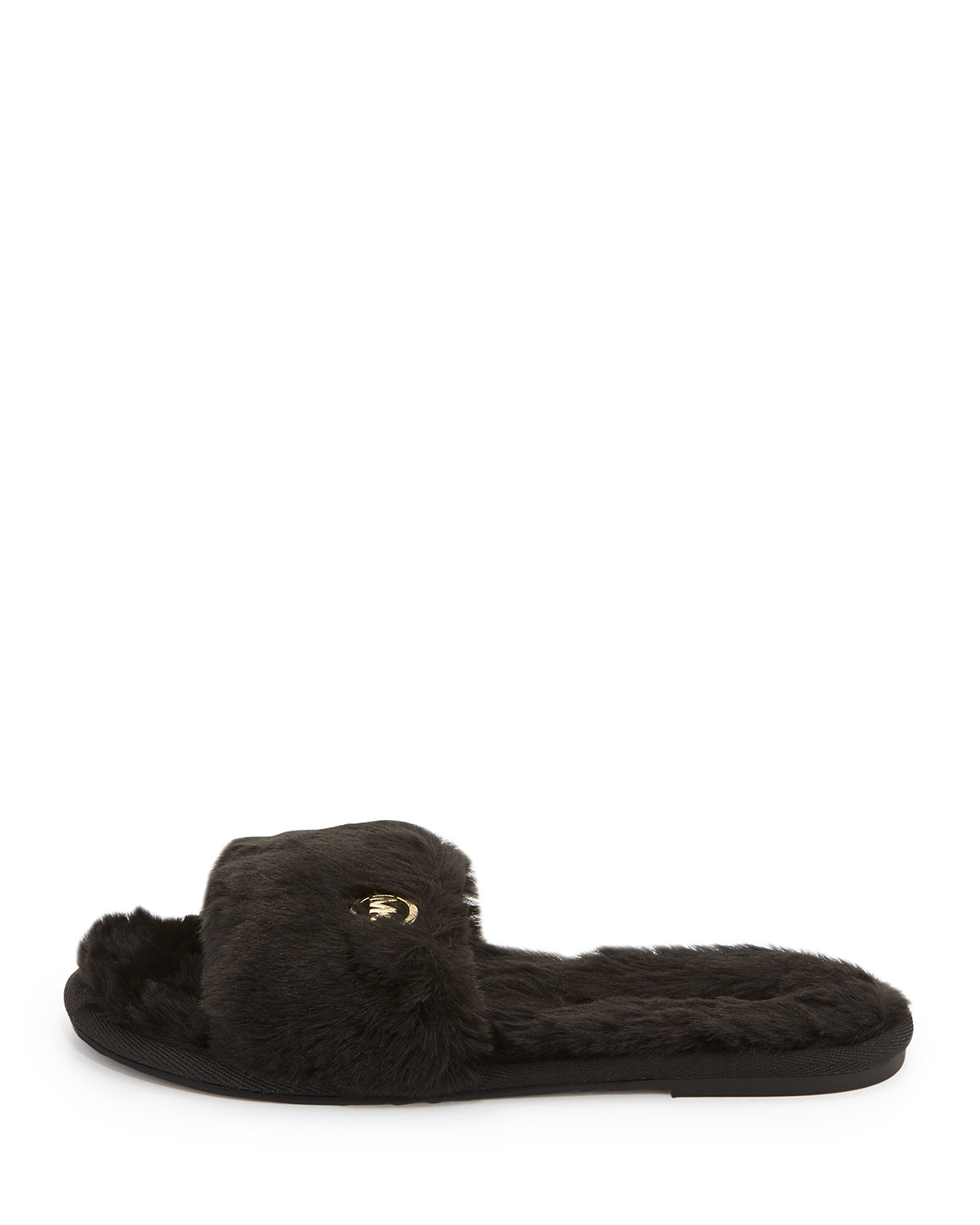 a52ccb048bdd Lyst - MICHAEL Michael Kors Jet Set Faux-fur Slide in Black