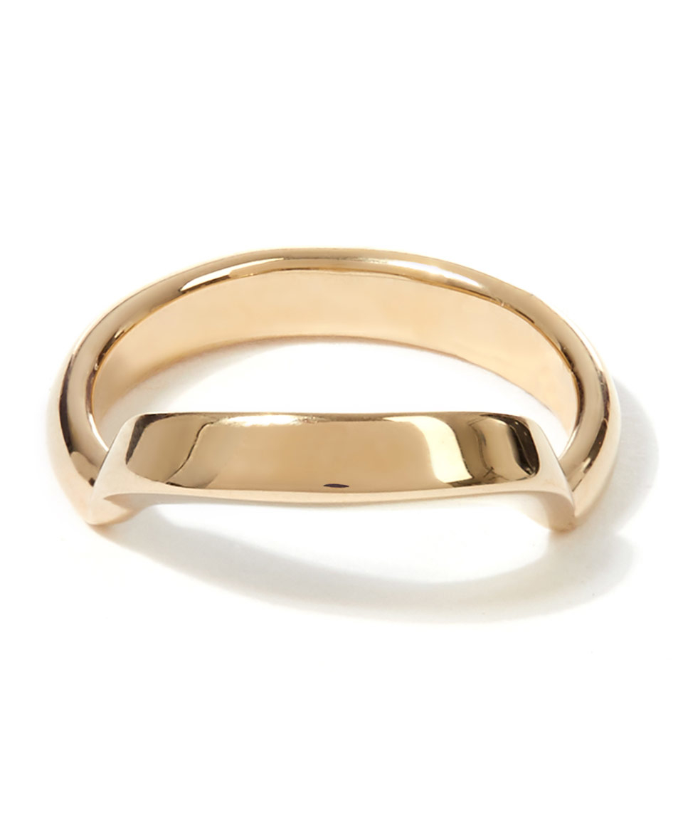 chlo 233 gold tone isalis ring in metallic lyst