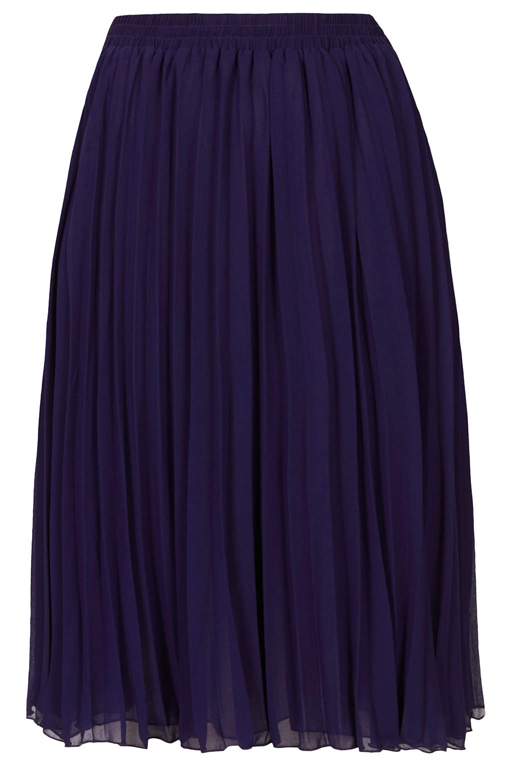 topshop pleated midi skirt by goldie in blue lyst
