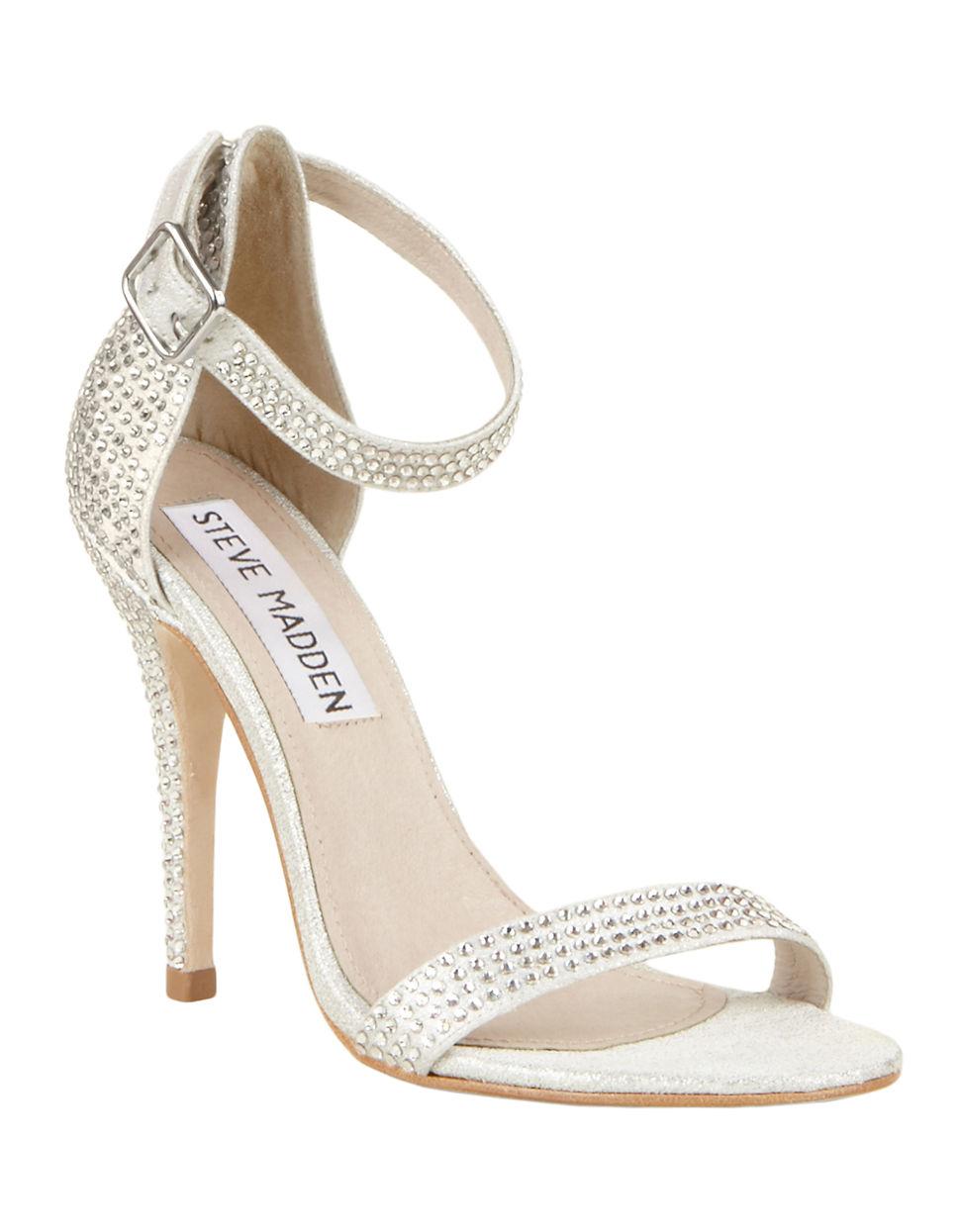 steve madden realov r high heel sandals with rhinestone. Black Bedroom Furniture Sets. Home Design Ideas