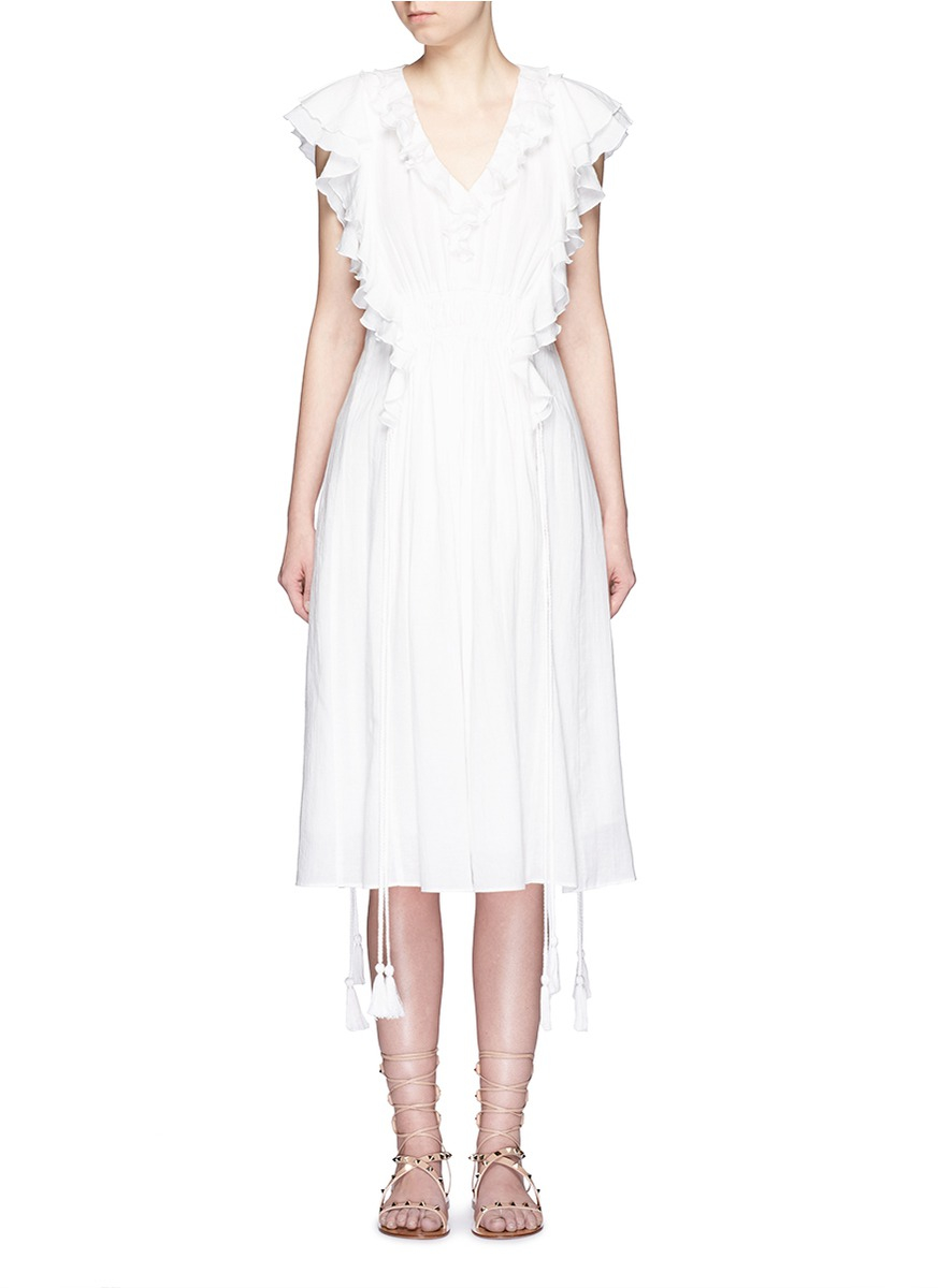 95514b7b947 Lyst - Apiece Apart  san Rafael  Ruffle Dress in White