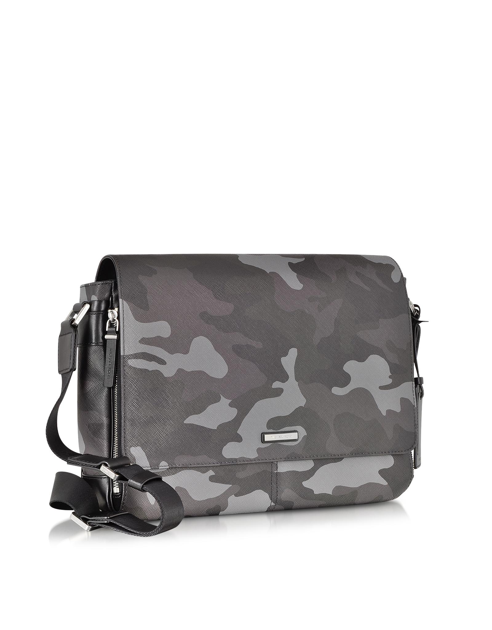486b42a2eab8 Michael Kors Jet Set Men S Grey Camouflage Messenger Bag in Gray for ...