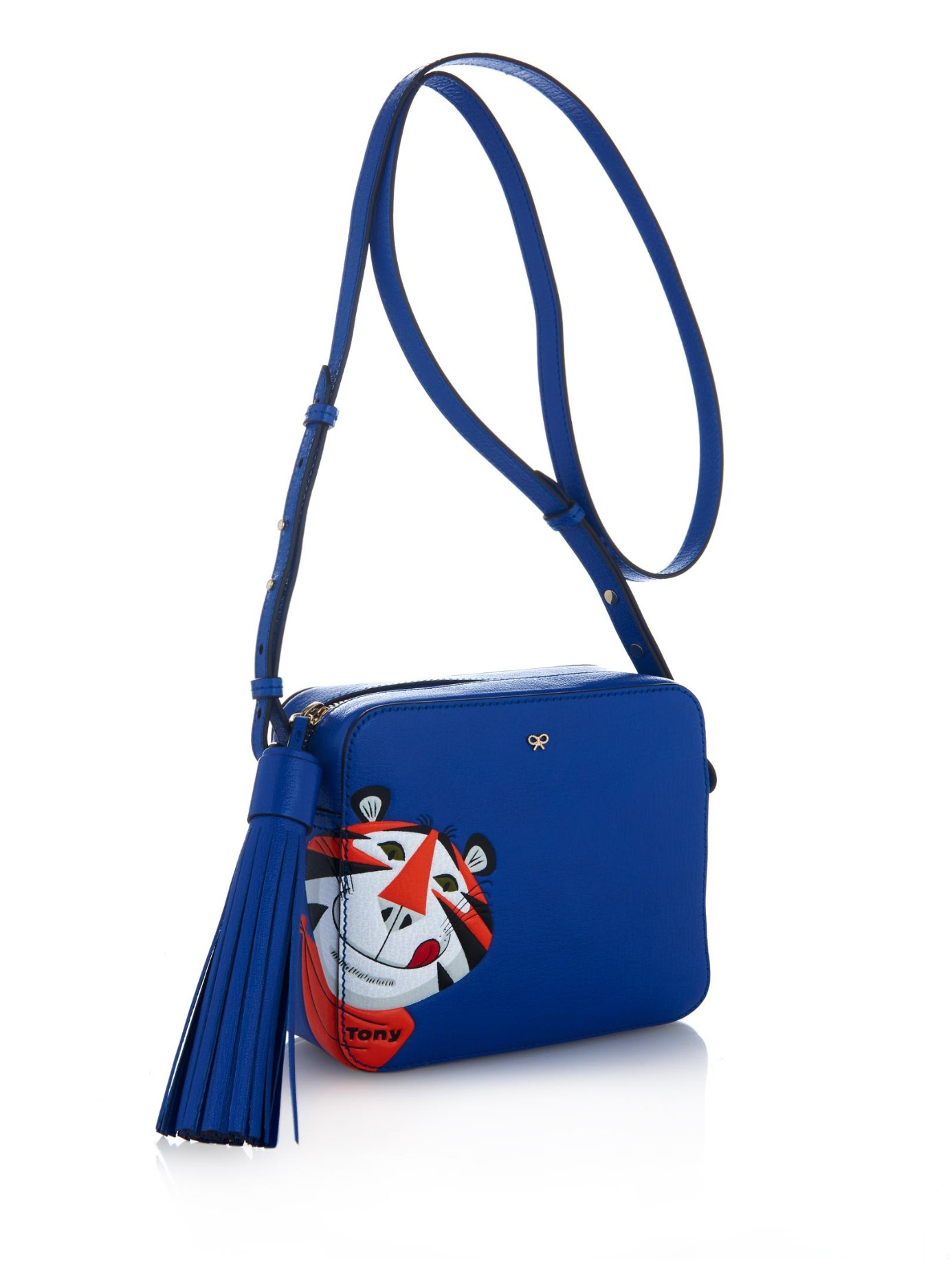 Lyst Anya Hindmarch Frosties Leather Cross Body Bag In Blue