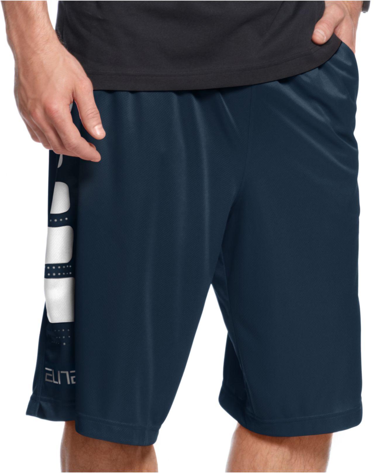 Nike Elite Stripe Basketball Shorts in Blue for Men | Lyst