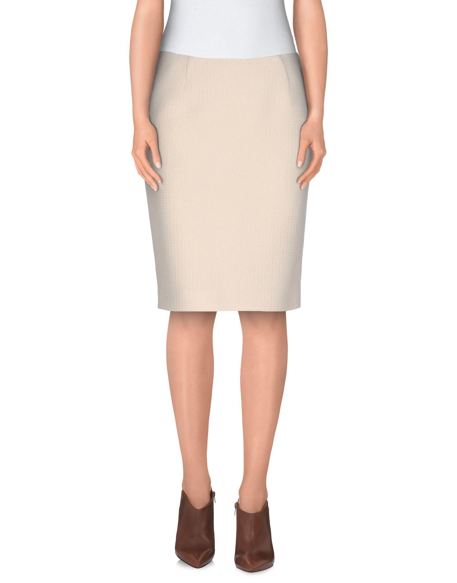 moschino knee length skirt in white lyst