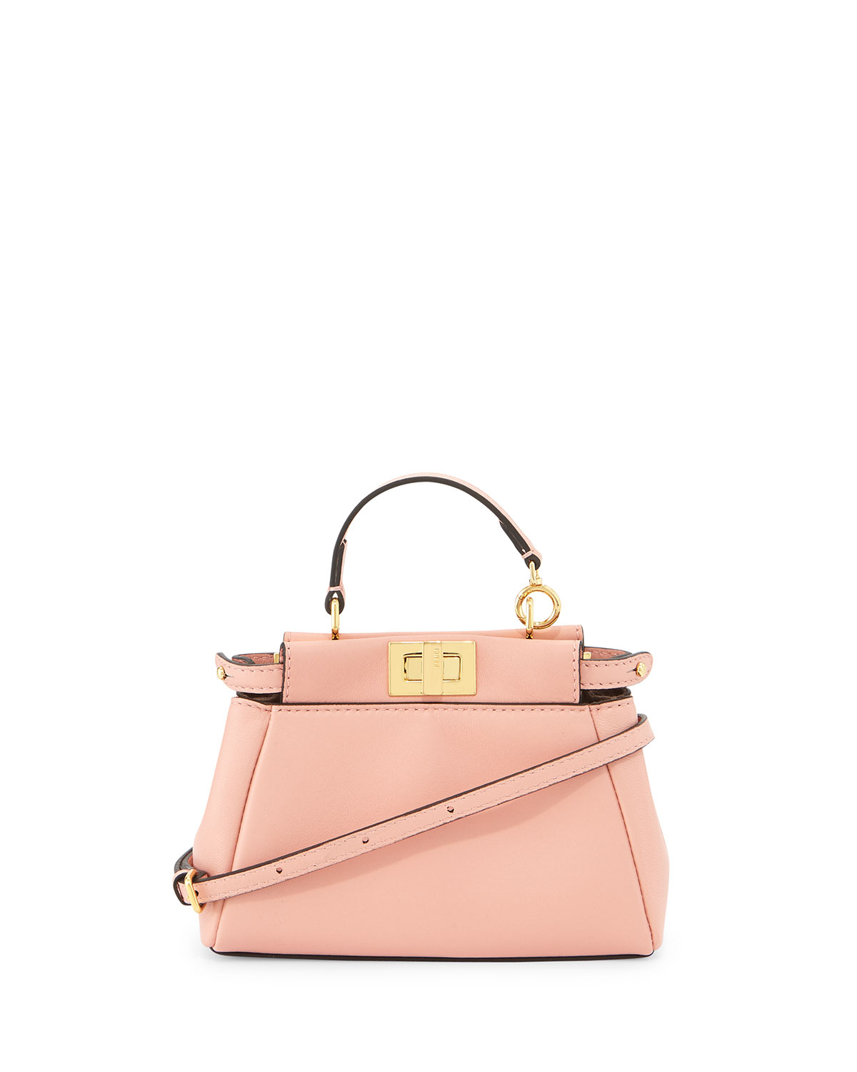 bc642c32f2e7 shop fendi crossbody bag vintage 4997b 6d67b  spain lyst fendi peekaboo  micro satchel bag in pink 71930 8abd7